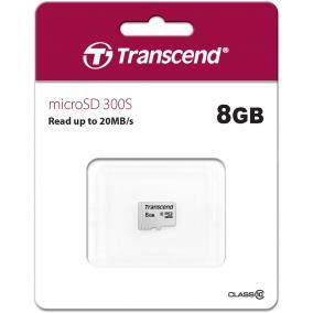 Transcend 300S microSDHC 8GB Class 10 memóriakártya