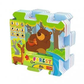 Trefl Habszivacs szőnyeg puzzle - Erdei móka