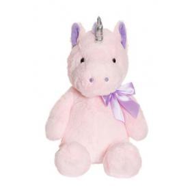 Unikornis, ülő, 60 cm - rózsaszín Teddykompaniet