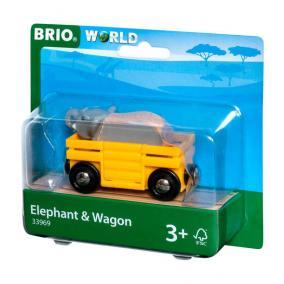 Vagon és elefánt Brio