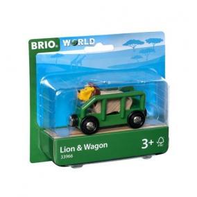 Vagon és oroszlán Brio