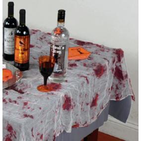 Véres Hatású Géz Asztalterítő - 150 cm x 210 cm, abrosz