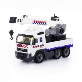 Volvo darus teherautó, fehér 49 cm