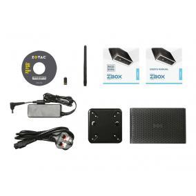 ZOTAC ZBOX CI662 NANO Barebone Intel Core-i7-10510U 2XDDR4 SODIMM 2.5inch SATA III Bay DUAL 2GLAN WIFI BT DP/HDMI EU+UK PLUG