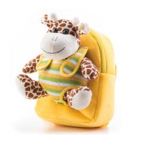 Plüss zsiráfos hátizsák, sárga