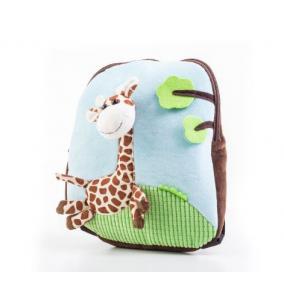 Plüss zsiráfos hátizsák, kék