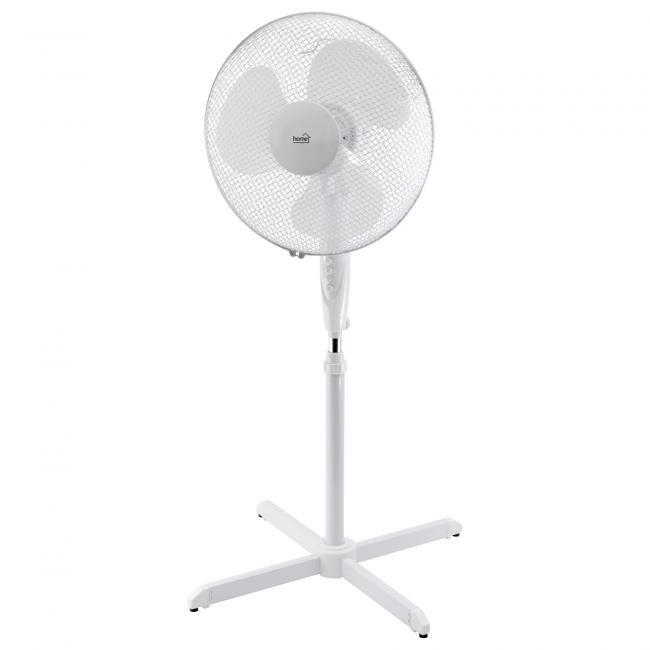 Álló ventilátor, fehér 40cm, oszcillálás, fehér