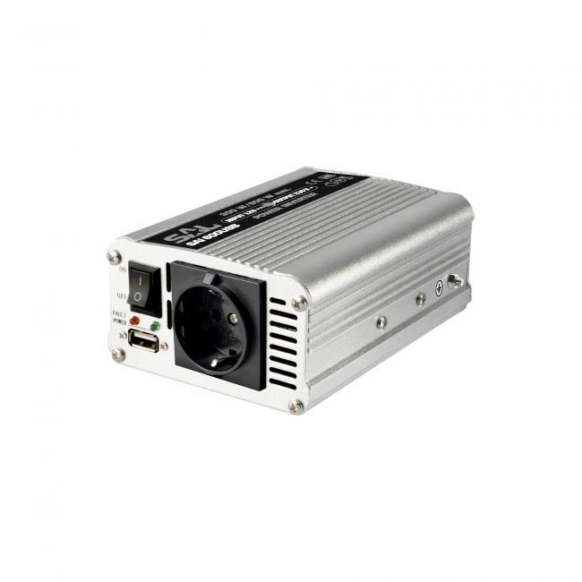 Feszültségátalakító, 300/600W, USB töltőaljzat