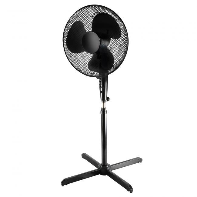 Álló ventilátor, fekete 40cm, oszcillálás