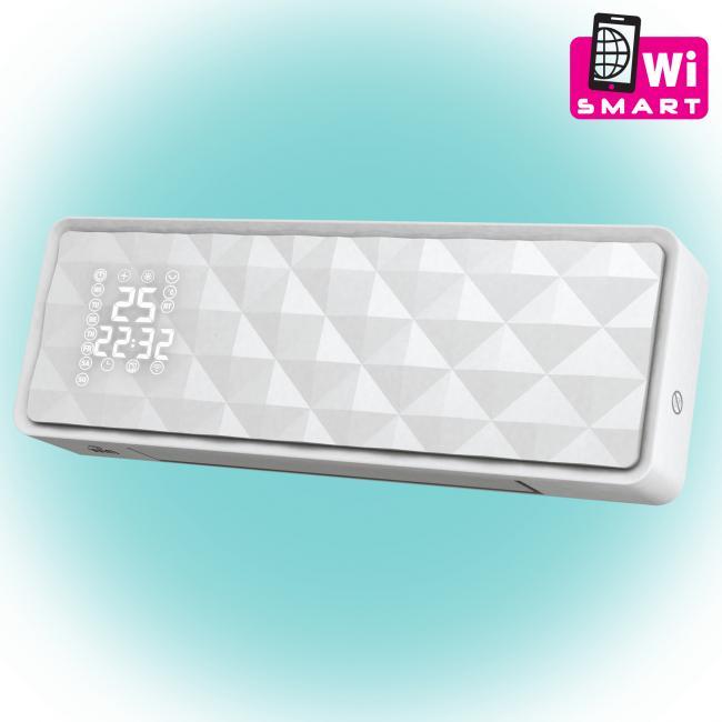 Smart fali ventilátoros fűtőtest, WiFi