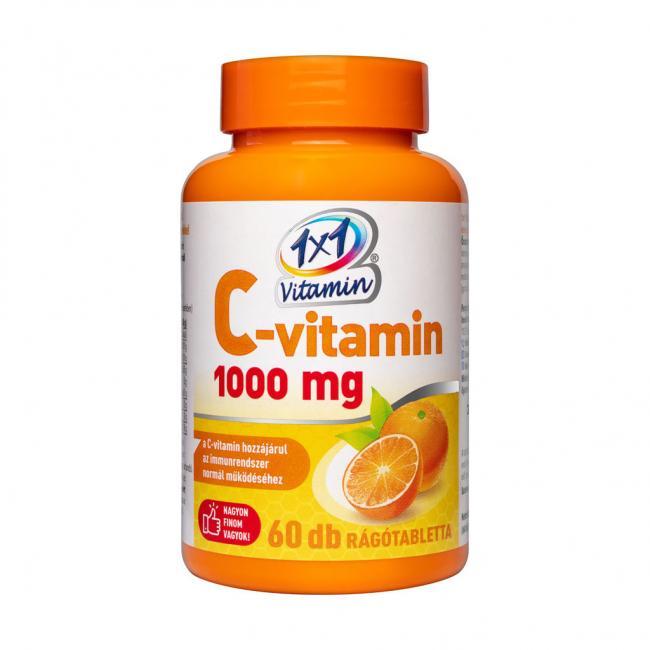 1x1 Vitamin C-vitamin 1000 mg narancsízű rágótabletta [60 db]