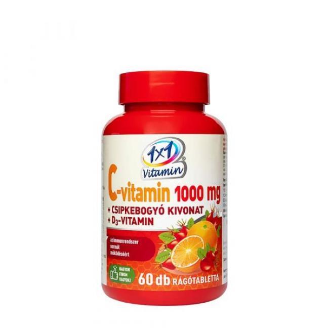1x1 Vitaday C-vitamin+D3-+Csipkebogyó rágótabletta [60 db]