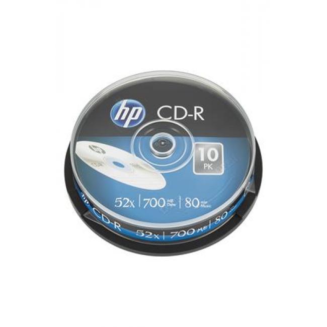 CD-R lemez, 700MB, 52x, hengeren, HP [10 db]