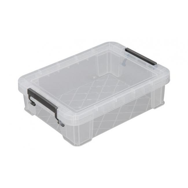 Műanyag tárolódoboz, átlátszó, 2,3 liter, ALLSTORE