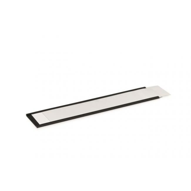Ársín, 40 mm, mágneses, C-Profil, DURABLE, fekete [5 db]