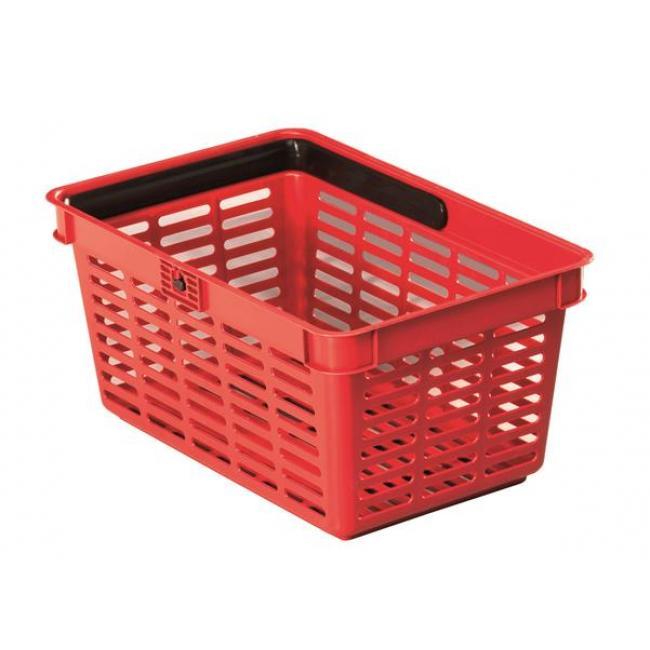 Bevásárlókosár, műanyag, 19 l, piros