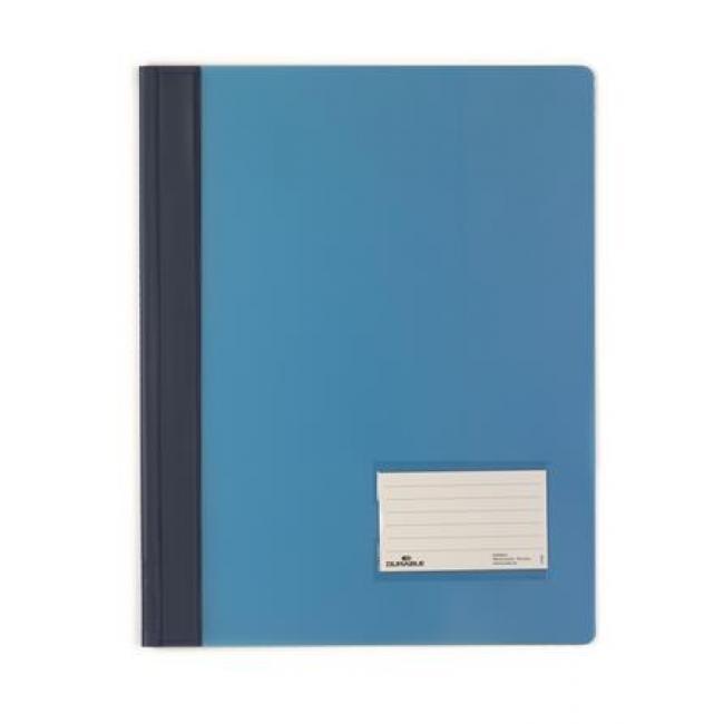 Gyorsfűző, A4, extra erős, széles, DURABLE, kék [25 db]