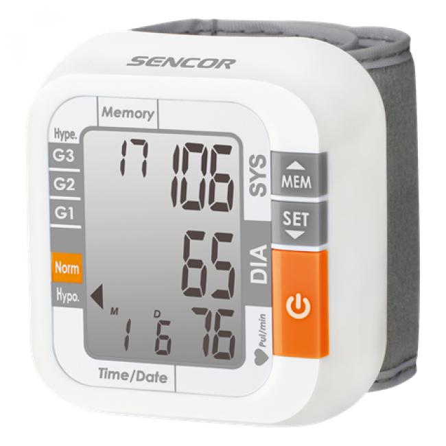 Digitális vérnyomásmérő csuklós - Sencor, SBD1470