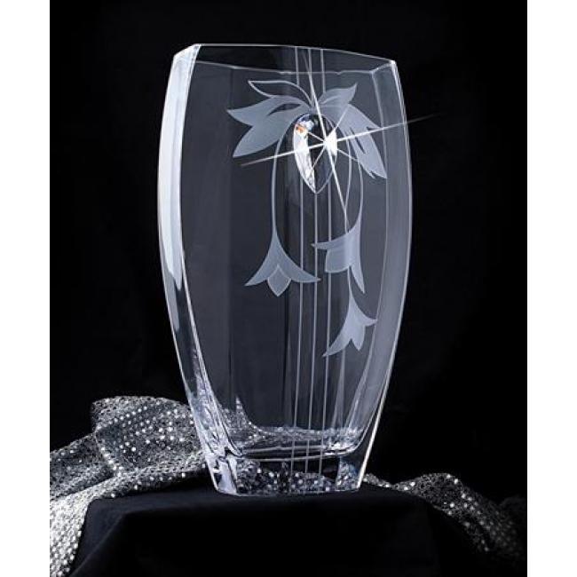Lorentina Vase ®, virágmintás, 35 cm MADE WITH SWAROVSKI ELEMENTS®