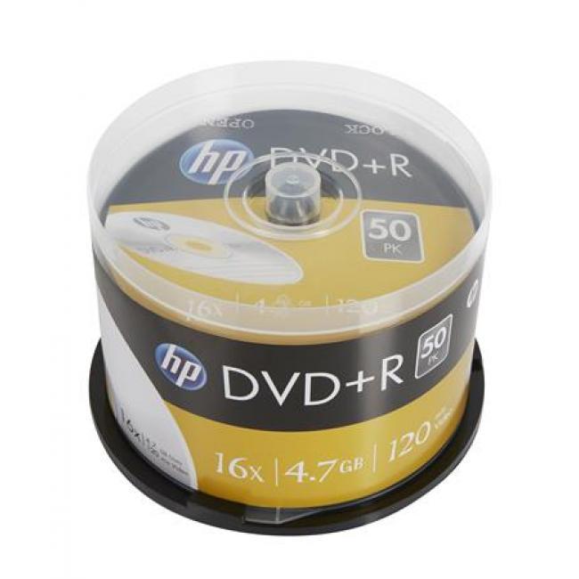 DVD+R lemez, 4,7 GB, 16x, hengeren, HP [50 db]