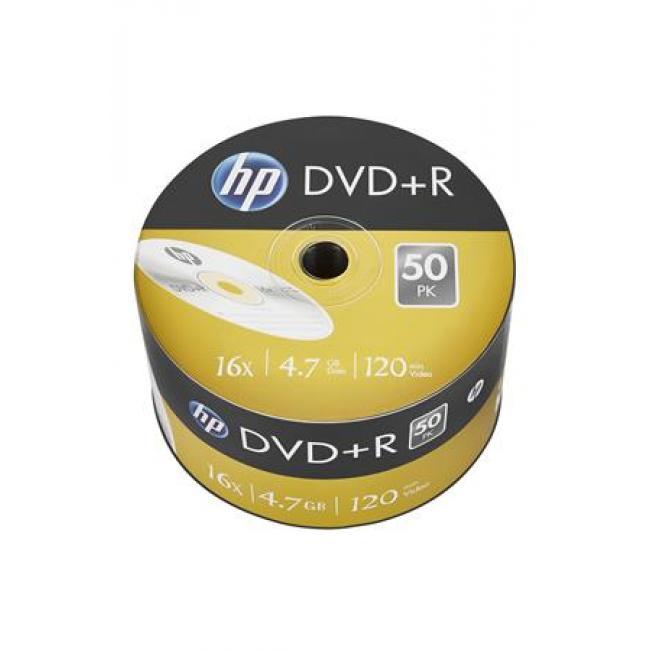 DVD+R lemez, 4,7 GB, 16x, zsugor csomagolás, HP [50 db]