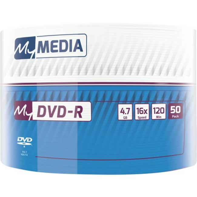 DVD-R lemez, 4,7 GB, 16x, zsugor csomagolás, MYMEDIA [50 db]
