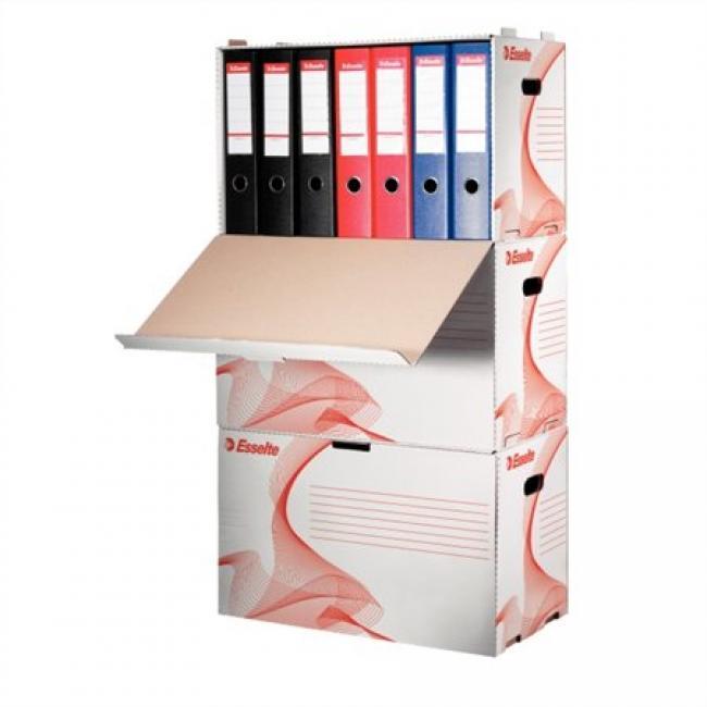Archiváló konténer, karton, előre nyíló, iratrendezőnek, ESSELTE