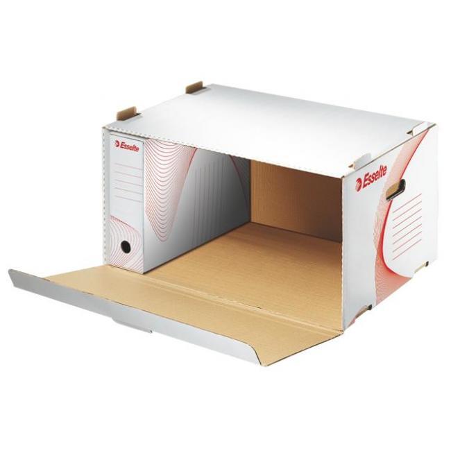 Archiváló konténer, karton, előre nyíló, ESSELTE