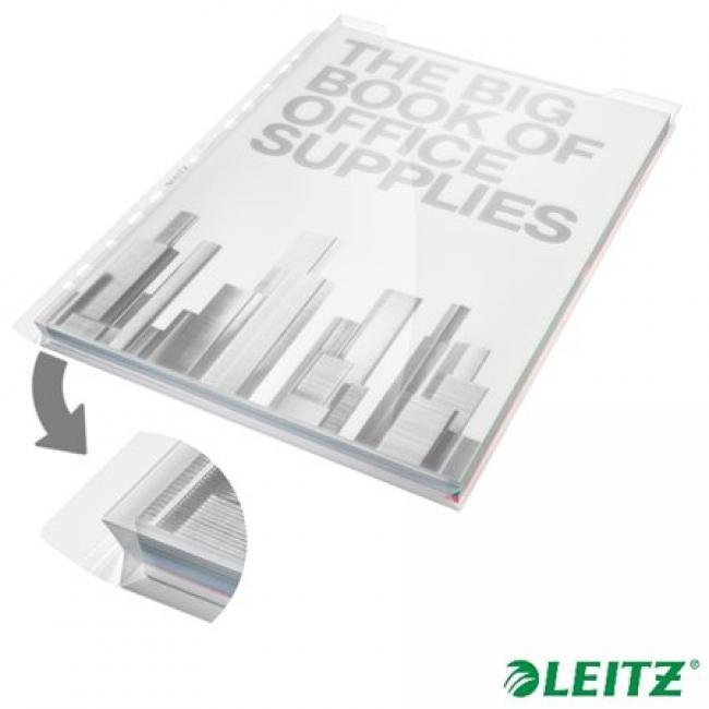 Genotherm, lefűzhető, A4, 180 mikron, víztiszta felület, 20 mm, LEITZ