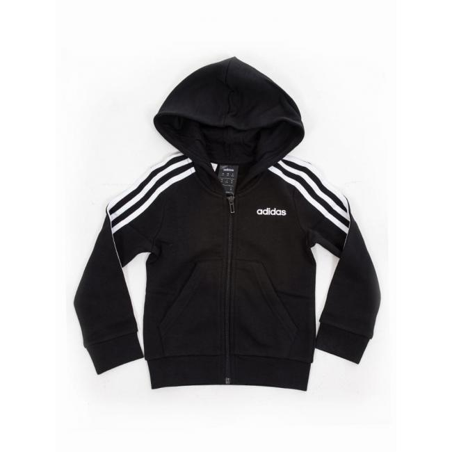 Adidas Performance Youth Girls Essentials 3s Full Zip Hoodi