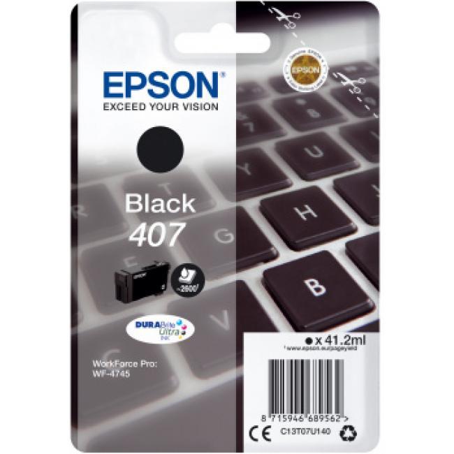 Epson T07U1 [Bk] No.407 tintapatron (eredeti, új)
