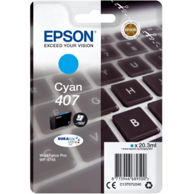Epson T07U2 [C] No.407 tintapatron (eredeti, új)