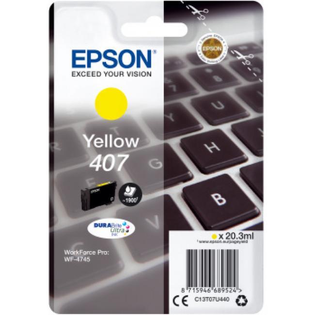Epson T07U4 [Y] No.407 tintapatron (eredeti, új)