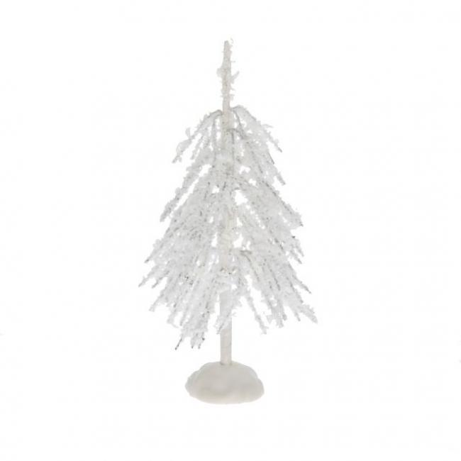 Fenyő havas műanyag/fém 15,5cm fehér