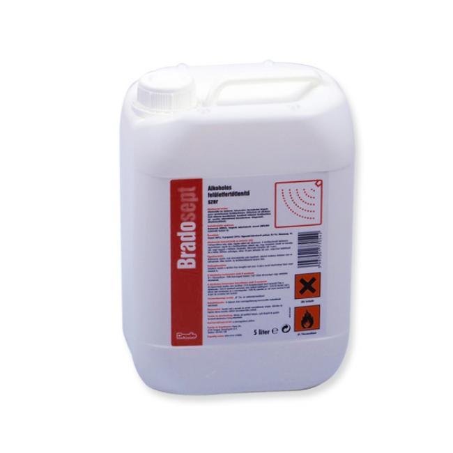 Fertőtlenítő Bradosept alkoholos 5 L felület utántöltő