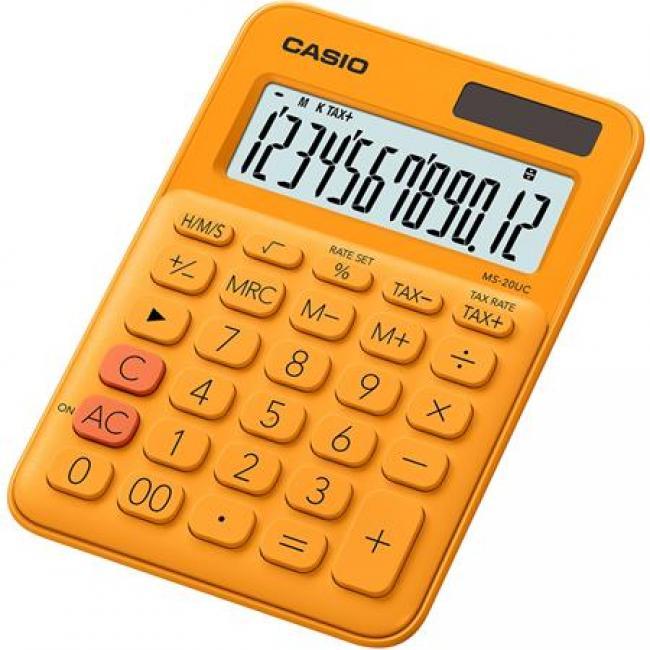 Számológép, asztali, 12 számjegy, CASIO,