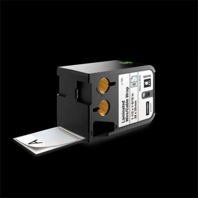 Laminált vezeték- és kábelburkoló etikett, 38 x 39 mm, DYMO