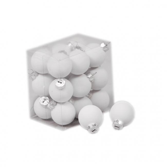 Gömb üveg 3cm fehér matt [18 db]