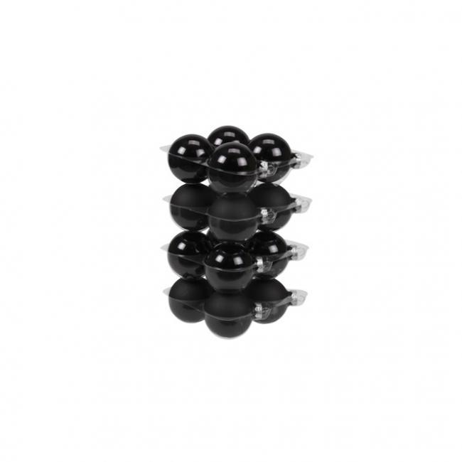 Gömb üveg 5,7cm fekete fényes-matt [16 db]
