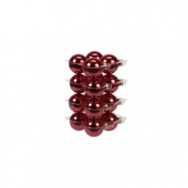 Gömb üveg 5,7cm piros fényes [16 db]