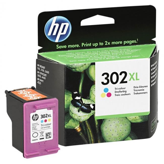 HP F6U67AE [Col XL] #No.302 tintapatron (eredeti, új)