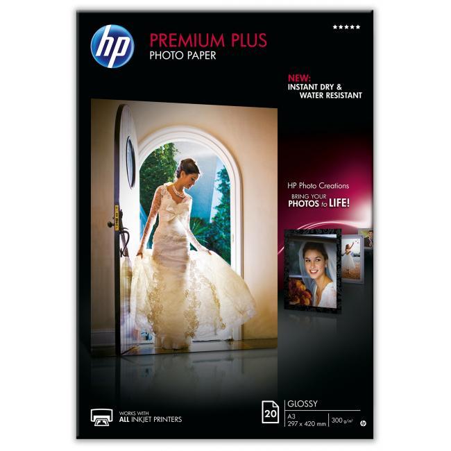 HP Premium Plus Glossy [A3 / 300g] 20db fotópapír #CR675A