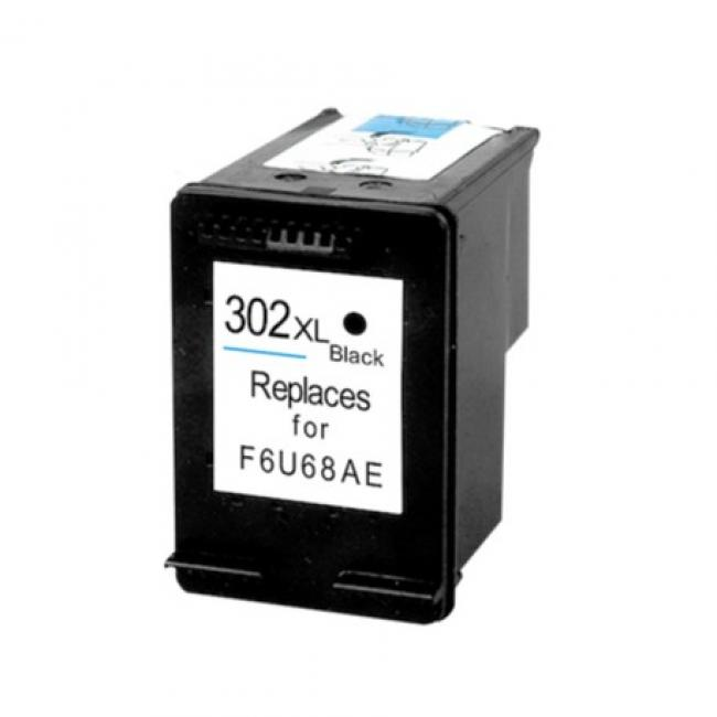 HP F6U68AE [Bk XL] #No.302 kompatibilis tintapatron (ForUse)