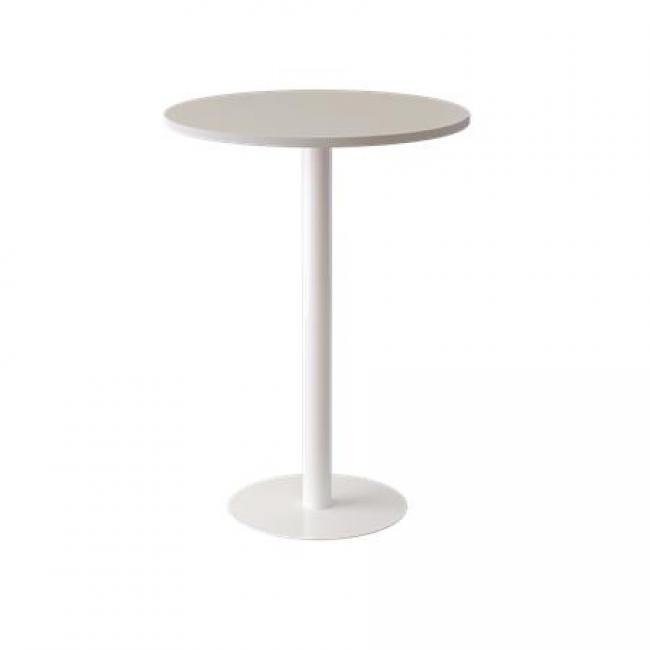 Bárasztal, fehér, 80 cm, PAPERFLOW