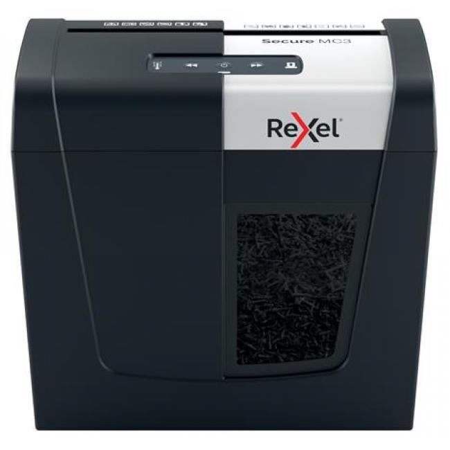 Iratmegsemmisítő, mikrokonfetti, 3 lap, REXEL,