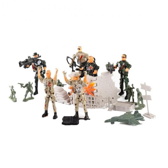 Játék katonák, dobozban