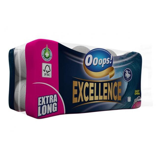 Toalettpapír, 3 rétegű, 16 tekercses,