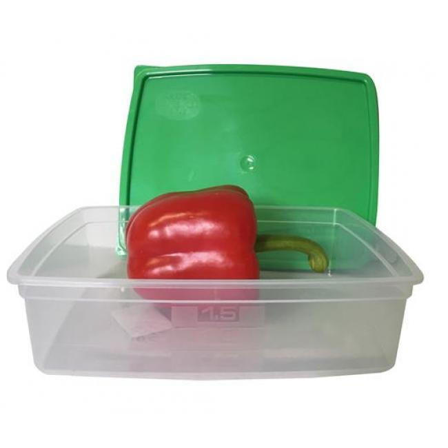Ételtartó doboz+fedő, szögletes, műa., 3db-os szett, 1,5l (méret: 235 x 190 x 60 mm) [3 db]