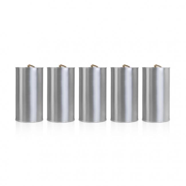 Konzervdoboz fém 14x7cm ezüst (5 db/szett) I