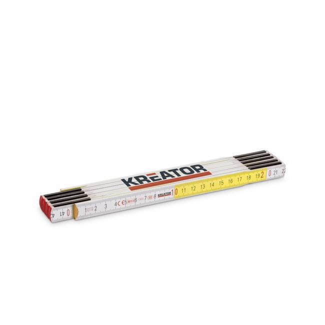 Kreator mérővessző 2m-es, fehér-sárga KRT701002